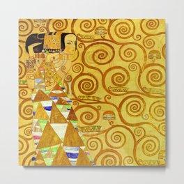 "Gustav Klimt ""Expectation - Stoclet Frieze"" Metal Print"