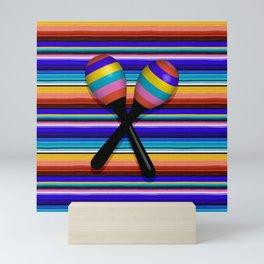 Mexican Stripes Mini Art Print