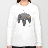 nintendo Long Sleeve T-shirts featuring Nintendo 64 by S3NTRYdesigns