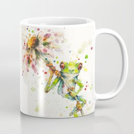 Hello There Bright Eyes (Green Tree Frog) Coffee Mug