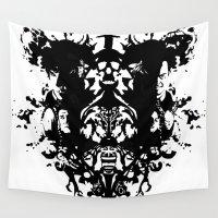 rorschach Wall Tapestries featuring Sherlock Rorschach by Sempaiko