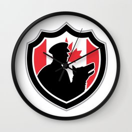 Canadian Police Canine Team Crest Wall Clock