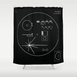 Voyager 1 - Black Shower Curtain