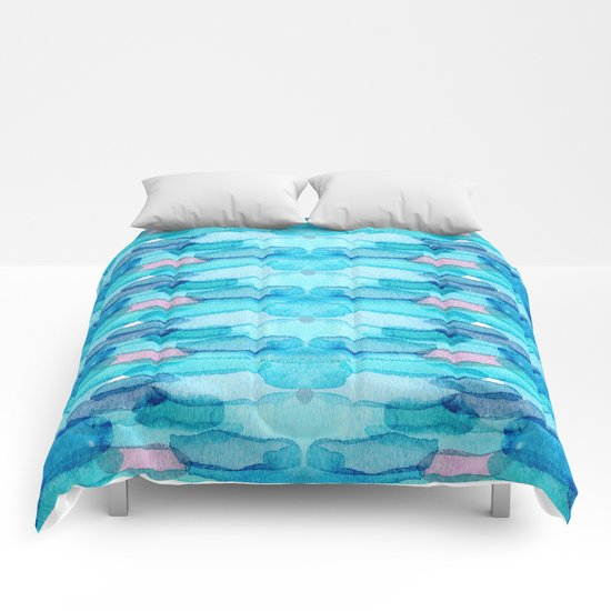 Watercolor folk  Comforters