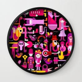 Club Music Festival Wall Clock