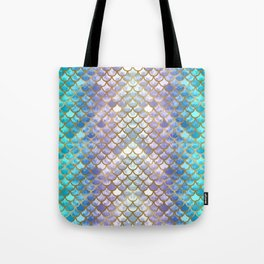 Pretty Mermaid Scales Tote Bag