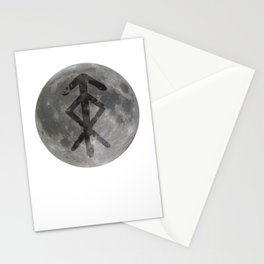 Viking bind rune 'Protection' on moon. Stationery Cards