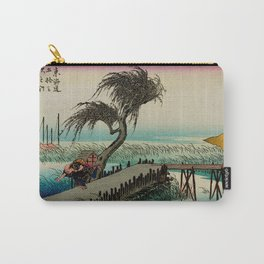Yokkaichi - Vintage Japanesse Ukiyo e Art Carry-All Pouch