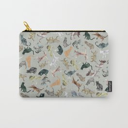 Marble Cats Carry-All Pouch
