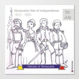 Venezuelan Independence Day Canvas Print