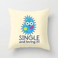 biology Throw Pillows featuring It's All About Paramecium by David Olenick