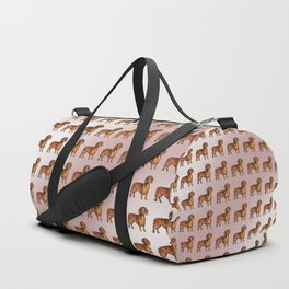 Dachshund Pattern Duffle Bag