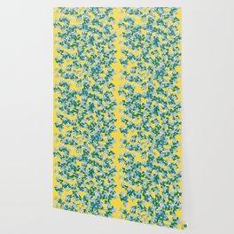 Summer Flowers Yellow Wallpaper