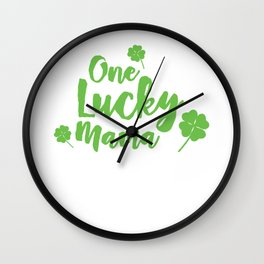 One Lucky Mama Cute St. Patrick's Day Wall Clock