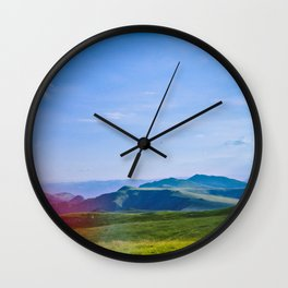 Sunny mountains Wall Clock