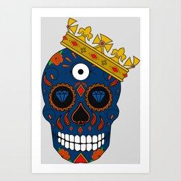 Rey de las calaveras  Art Print
