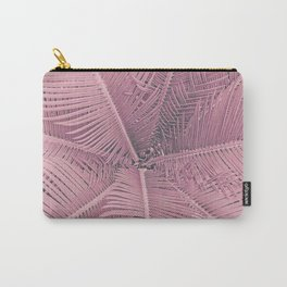 Pink Palm Leaves Carry-All Pouch