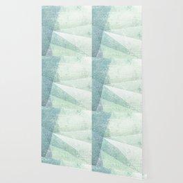 Frozen Geometry - Teal & Turquoise Wallpaper