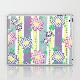 Gingham Floral Spring Stripe by Nettie Heron-Middleton Laptop & iPad Skin