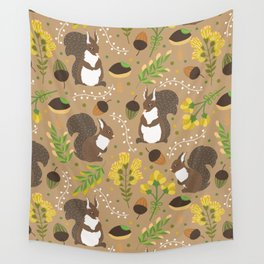 Chocolate squirrels Wall Tapestry