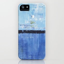 Shiver Abstract Art Blue Modern Water Painting  iPhone Case