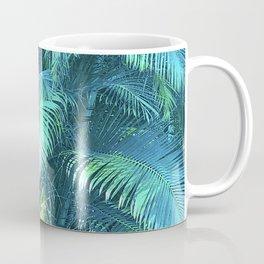 Tropical Blue Green Palm Leaves in Paradise Coffee Mug