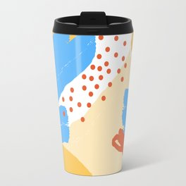 Yellow Abstraction Travel Mug