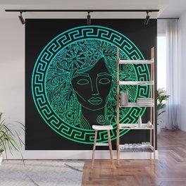 GREEK GODDESS in MINT Wall Mural