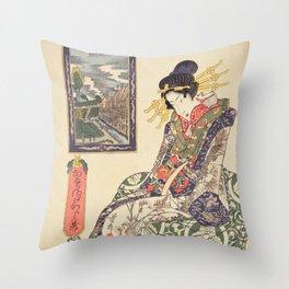 Geisha women Throw Pillow