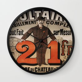 Vintage poster - A Voltaire Wall Clock