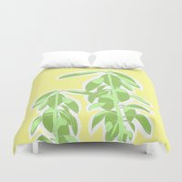 avocado Duvet Covers featuring Avocado by Maria Nordtveit