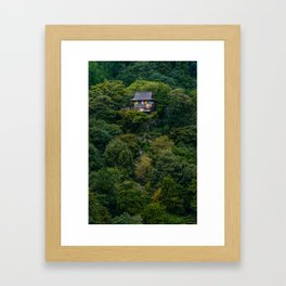High Up Framed Art Print