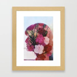 floral silhouette Framed Art Print