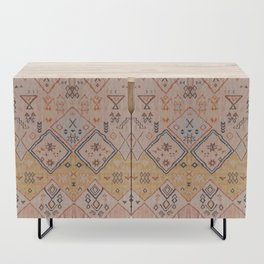 N218 - Mustard Yellow Oriental Heritage Boho Traditional Moroccan Desert Style Credenza