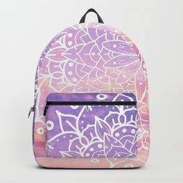 WHITE SUNSET MANDALA Backpack
