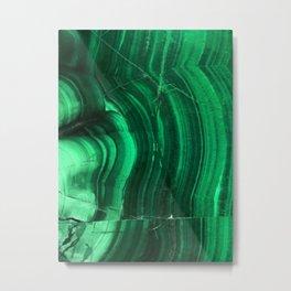 Malachite Texture Metal Print