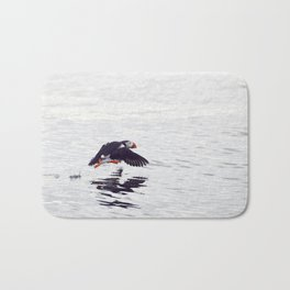 Puffin approaching! Bath Mat