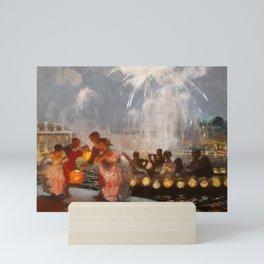 The Joyous Festival by Gaston La Touche - French Post-Impressionism Mini Art Print