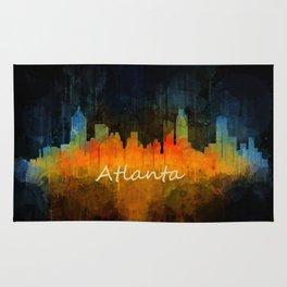 Atlanta City Skyline UHq v4 Rug