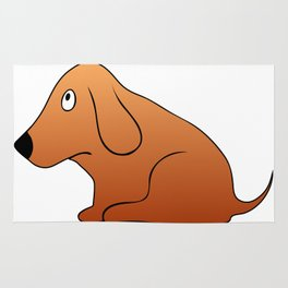 Small sitting dog - canine devotion Rug