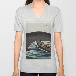 A lithograph of the bowhead whale from a German natural history series (1878) an adorable sperm whal Unisex V-Neck