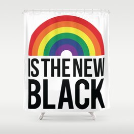 Diversity Is The New Black Shower Curtain
