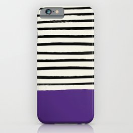 Purple Grape x Stripes iPhone Case