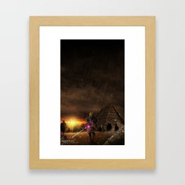 I will draw you into the dark world Framed Art Print