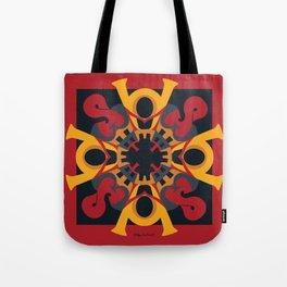 Home Sweet  Home Mandala - Red Black Tote Bag