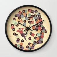 vinyl Wall Clocks featuring Vinyl by Davide Bonazzi