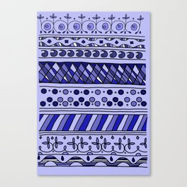 Yzor pattern 002 blue Canvas Print