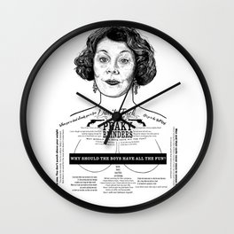 Aunt Polly 'Why Should The Boys...' Ink'd Series Wall Clock