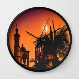 Sunset Mosque Wall Clock