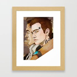 The CEO and the AI. Framed Art Print